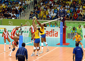 2007 Pan American Games medal table - Image: Women's Volleyball BRA vs. CUB