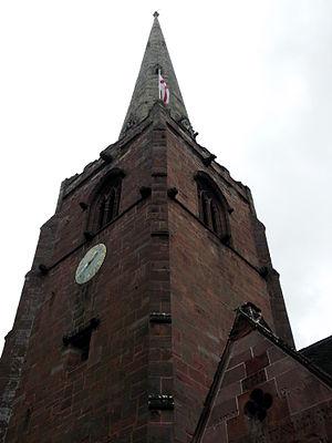 Worfield - Image: Worfield St Peter's spire 01