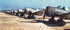 Gimpo International Airport - Mitsubishi Ki-51s at Kimpo in October 1945