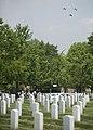 World War II era planes fly over Washington, D.C. seen from Arlington National Cemetery (16809216064).jpg