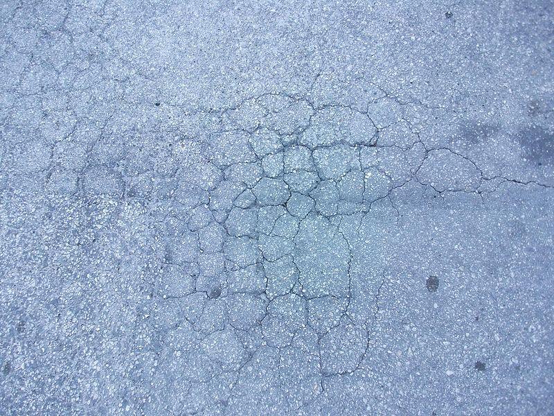 File:Worn cracked asphalt pavement.jpg