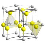 ZnS, Kristallstruktur von Wurtzit (hexagonal)