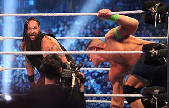 WrestleMania XXX - Bray Wyatt (left) failed in both defeating John Cena or turning Cena into a 'monster'.