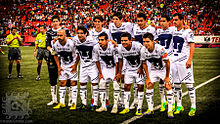 UNAM's Pumas football team, with the emblematic logo on the front of the jersey.