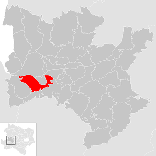 Location of the municipality of Ybbs an der Donau in the Melk district (clickable map)