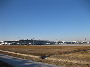 Yinchuan Hedong International Airport - Image: Yin Chuan airport