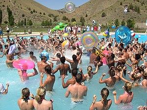 Young Life - Swimming campers at Young Life's Washington Family Ranch.