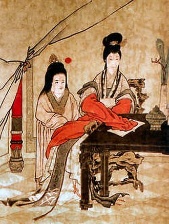 Zhu Biao - Painting of Zhu Biao and his mother