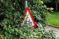 """Cycle route ahead"" sign, Lambeg - geograph.org.uk - 1973244.jpg"
