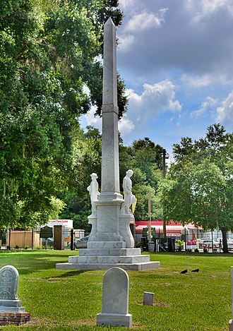 Brandon, Florida - Following protests in 2018, the Confederate monument Memoria in Aeterna was relocated from a Tampa courthouse to a cemetery in Brandon