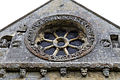 'Berfrestone' (DB) east wheel window St Nicholas Church Barfrestone Kent England.jpg