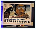 'For full employment after the war, register, vote', poster by Ben Shahn, 1944.jpg