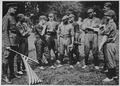 (African American) troops play ball against whites, Hyde Park, London. (African American) and white . . . - NARA - 533504.tif