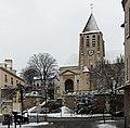 Église Saint-Germain-de-Charonne (Paris) sous la neige 04.jpg