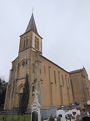 The church in Lacrabe