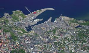Sadama - Aerial view of Sadama area.