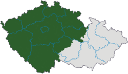 Poloha Čech na mapě Česka