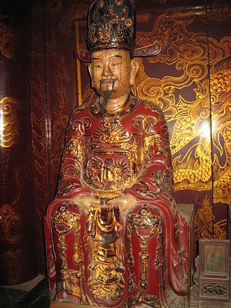 Đinh Hạng Lang - Fictional portrait statue of Lê period's craftsmans about crown prince Đinh Hạng Lang. The statue in the ancient capital Hoa Lư.
