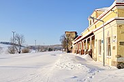 Łupków (Лупків) - train station in winter 01.jpg