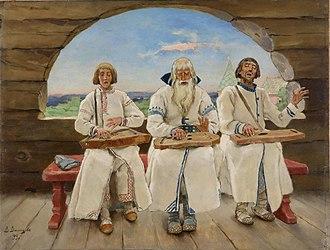 """Gusli - """"Gusli musicians"""" by Viktor Vasnetsov, 1899"""