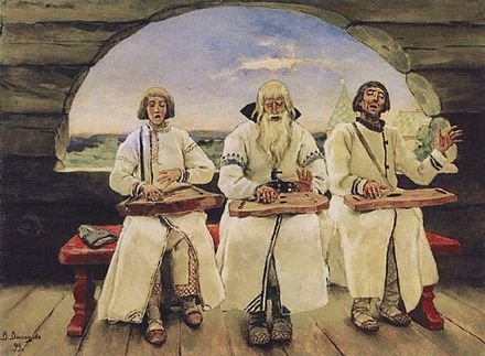 Medieval Gusli players (painting by Victor Vasnetsov)