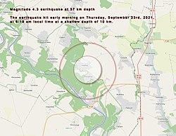 Мапа землетрусу