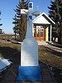 Пам'ятний хрест Іванові Багрію (фундатор Антін Багрій) біля церкви Успіння на Завадині, Трибухівці біля Бучача.jpg