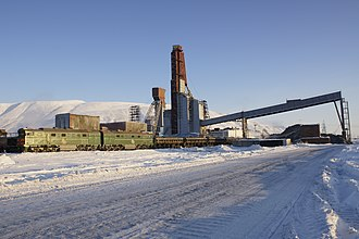 Norilsk railway - Talnakh is a small station on the railway.