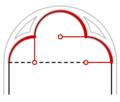 Трохлопасцевая арка. Пабудова.png