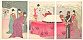 参謀本部行啓之図-Illustration of the Empress Visiting the General Staff Headquarters -to present a tray of bandages- (Sanbō honbu gyōkei no zu) MET DP147674.jpg