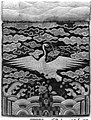 자수 단학 무늬 흉배-조선-刺繡單鶴文胸背-朝鮮-Rank badge with a crane (one of a pair) MET 155304.jpg