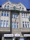 Fassade des Mietwohn- und Geschäftshauses