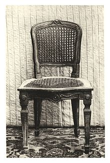 Chair, Josephinism Style, Typical Viennese, Around 1780. The Seat And Back  Wickerwork Panels Are Woven Of Rattan, While The Frame Is Hardwood.