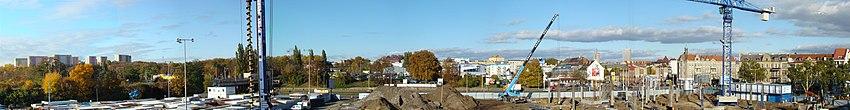 Polski: Panorama osiedla Turzyn, widok w kierunku północnym