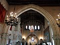 099 Castell de Santa Florentina (Canet de Mar), el saló del tron des de l'avantsala.JPG