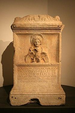 0 Autel dédié au dieu Malakbêl et aux dieux de Palmyra - Musei Capitolini (1).JPG
