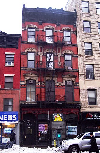 Pyramid Club (New York City) - 101 Avenue A, built in 1876, location of the Club