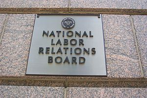National Labor Relations Board - Plaque on the exterior of 1099 14th Street NW in Washington, D.C., the NLRB headquarters as of 2013.