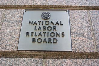 1099 14th Street - National Labor Relations Board sign on the 14th Street NW entrance of 1099 14th Street NW.