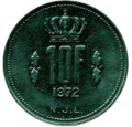 10 francs Luxembourg Jean I (1972)-revers.png