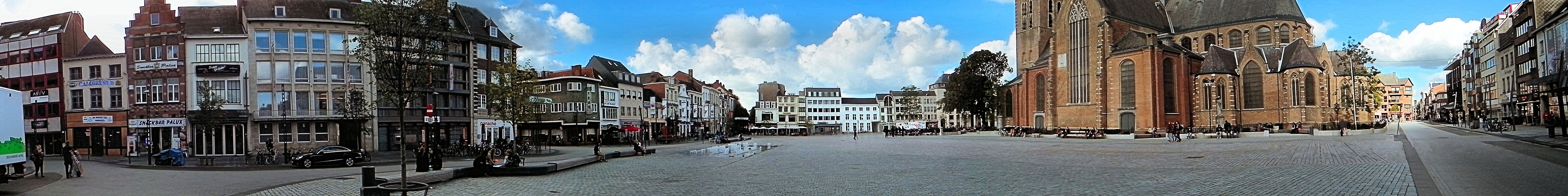 Belgium - Turnhout. Grote Markt (Main Market) with Saint Peter Church