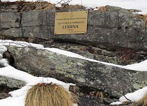 Lemina - Metal plaque at the source of the Lemina