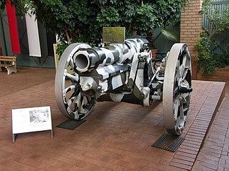 15 cm sFH 02 - A German 15 cm sFH 02 howitzer from 1917
