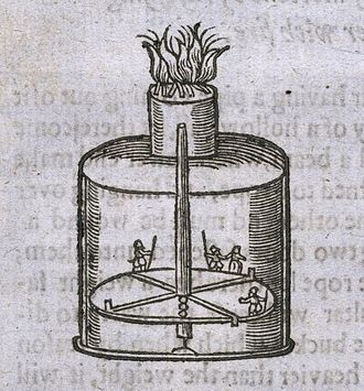 Zoetrope - Device described in John Bate's The Mysteries of Nature and Art (1635)