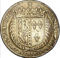 1645 coin showing the arms of Marie de Bourbon, Princess of Carignano.png