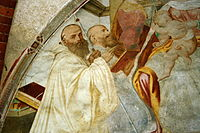1724 - Milano - Abbazia di Chiaravalle - Gaudenzio Ferrari, Madonna onorata da cistercensi (dett.) - Foto Giovanni Dall'Orto, 31-Oct-2009.jpg