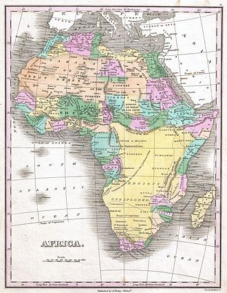 1820s - Anthony Finley's 1827 map of Africa