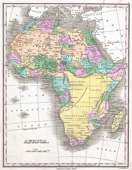 Anthony Finley's 1827 map of Africa 1827 Finley Map of Africa - Geographicus - Africa-finley-1827.jpg