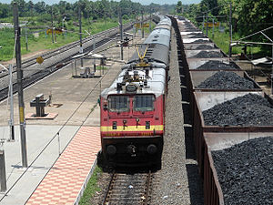 Khurda Road–Visakhapatnam section - 18463 Prashanti Express at Alamanda Railway Station on Khurda Road–Visakhapatnam section