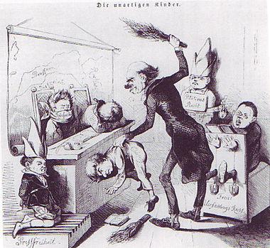 Bonnet d'âne  dans ANE 380px-1849_-_Karikatur_Die_unartigen_Kinder